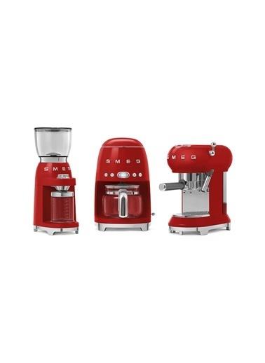Smeg Cgf01Rdeu Retro Kırmızı Kahve Öğütme Makinesi Değirmen Kırmızı
